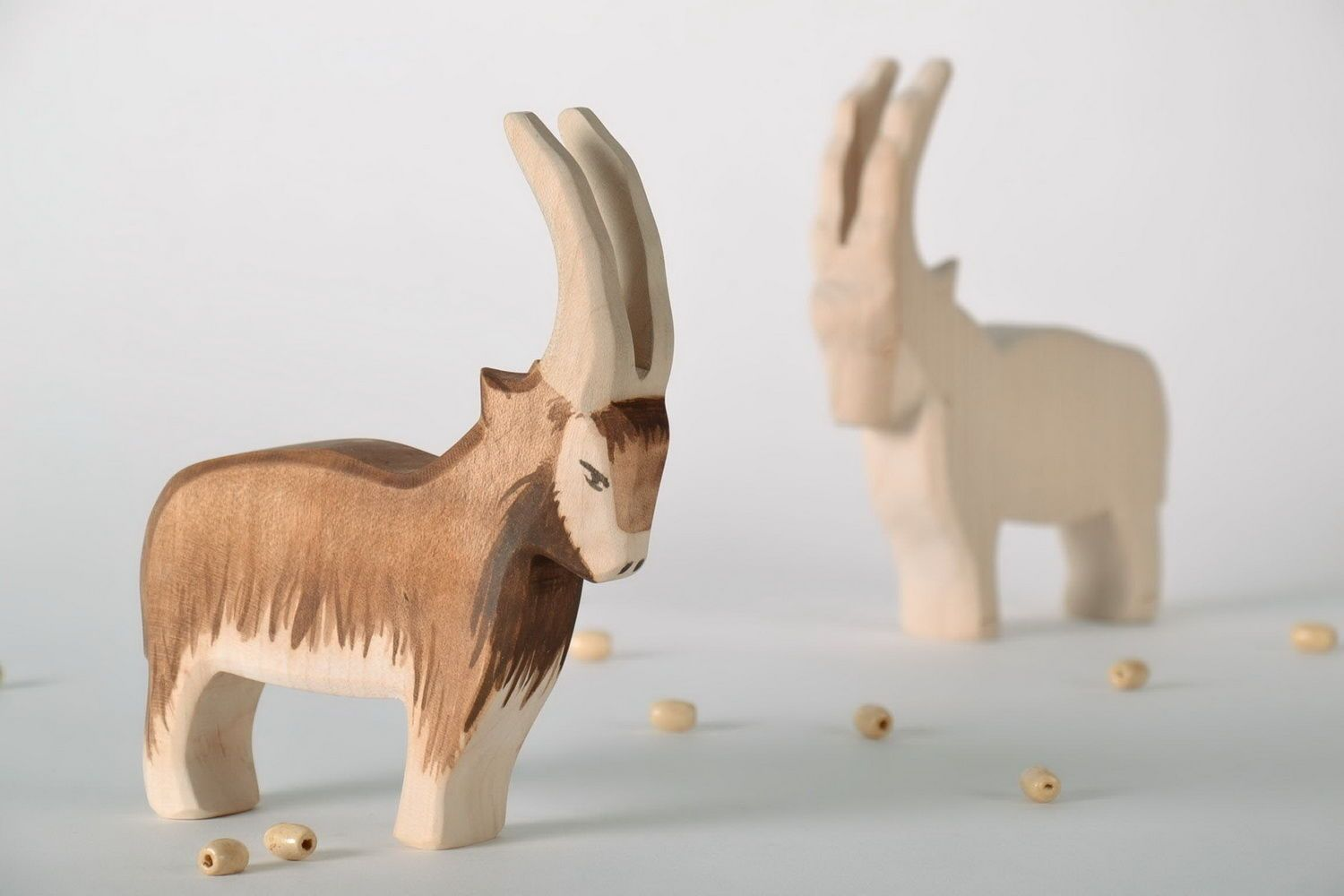 Wooden figurine Mountain goat photo 1
