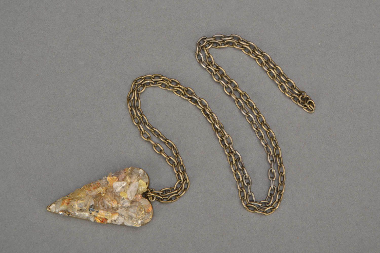 Pendant with quartz Heart photo 3
