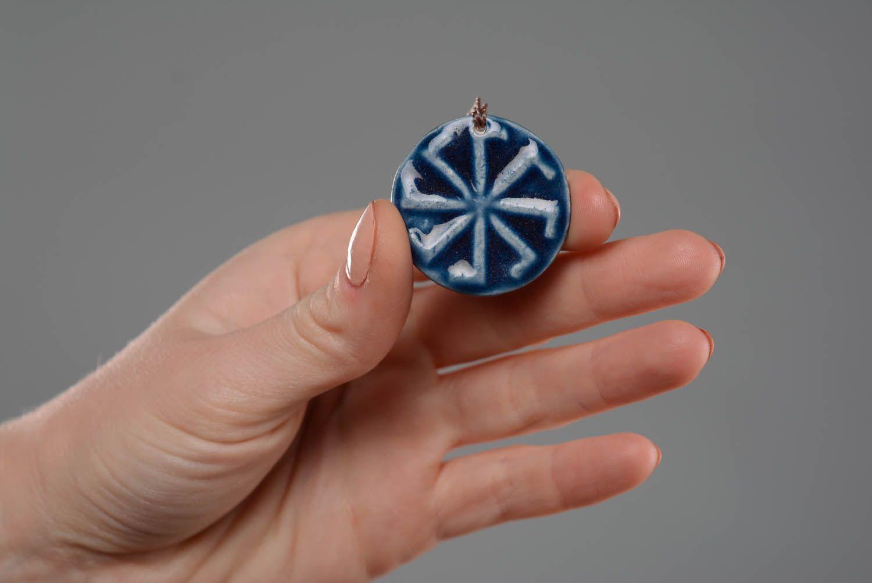 Ceramic pendant amulet Ladinets photo 2