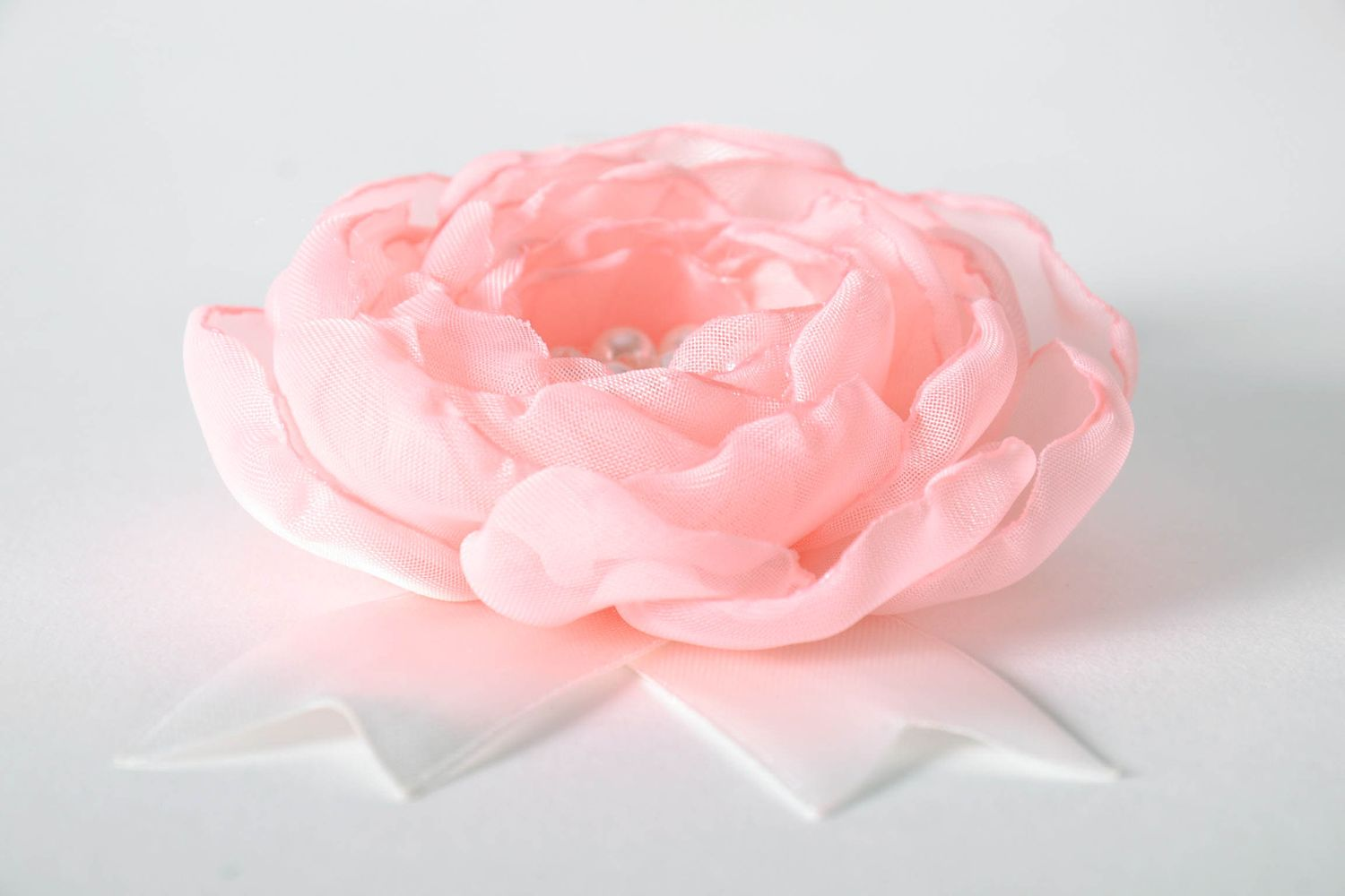wedding accessories Boutonniere made of satin ribbons - MADEheart.com