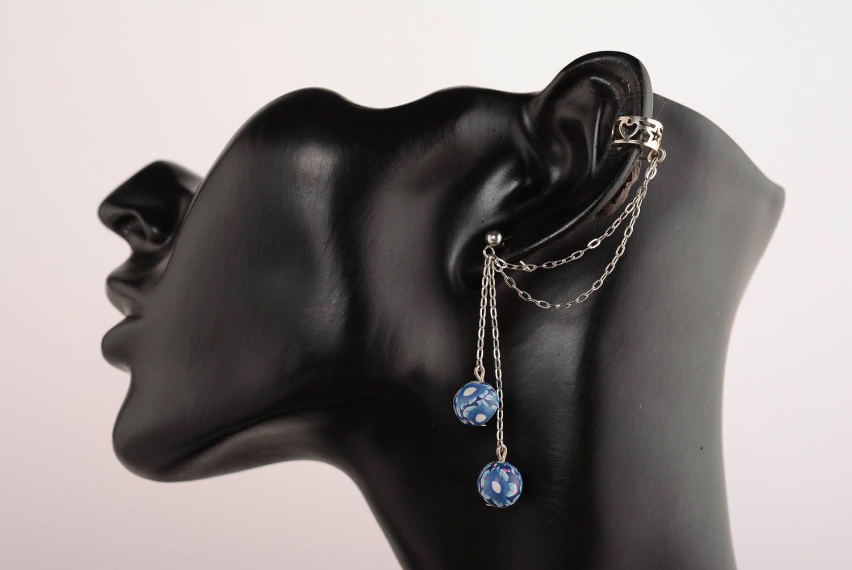 Tender cuff earrings Blue Horizon photo 1
