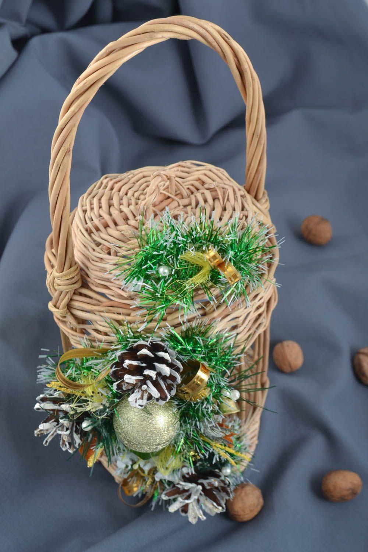 MADEHEART > Handmade verzierter geflochtener Korb Fest Deko Korb mit ...