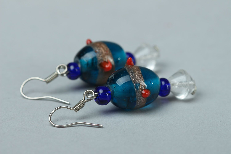Glass earrings photo 2
