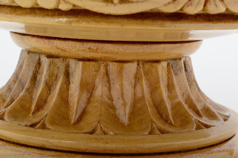 Madeheart > Deko Vase Handmade Geschnitzt Wohnzimmer Deko Holz ... Exklusive Deko Fr Wohnzimmer