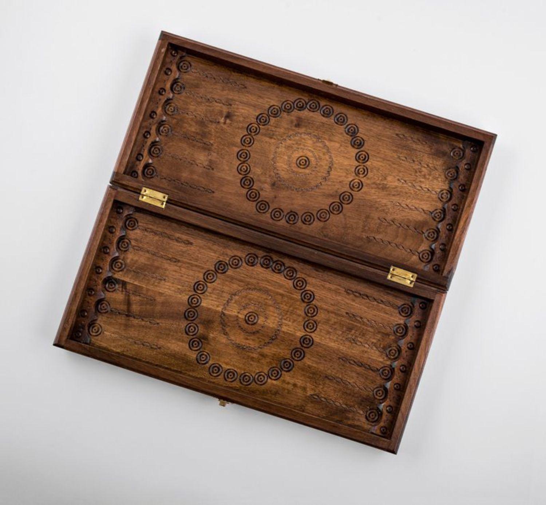 Wooden backgammon photo 4
