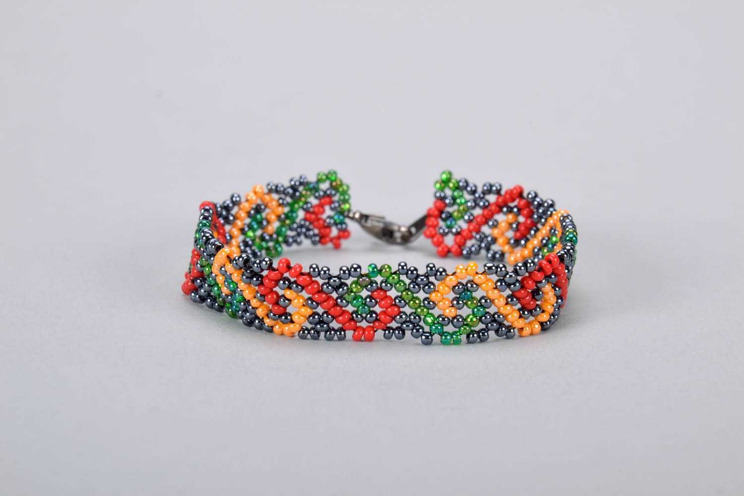 Multicolored Bead Bracelet photo 3