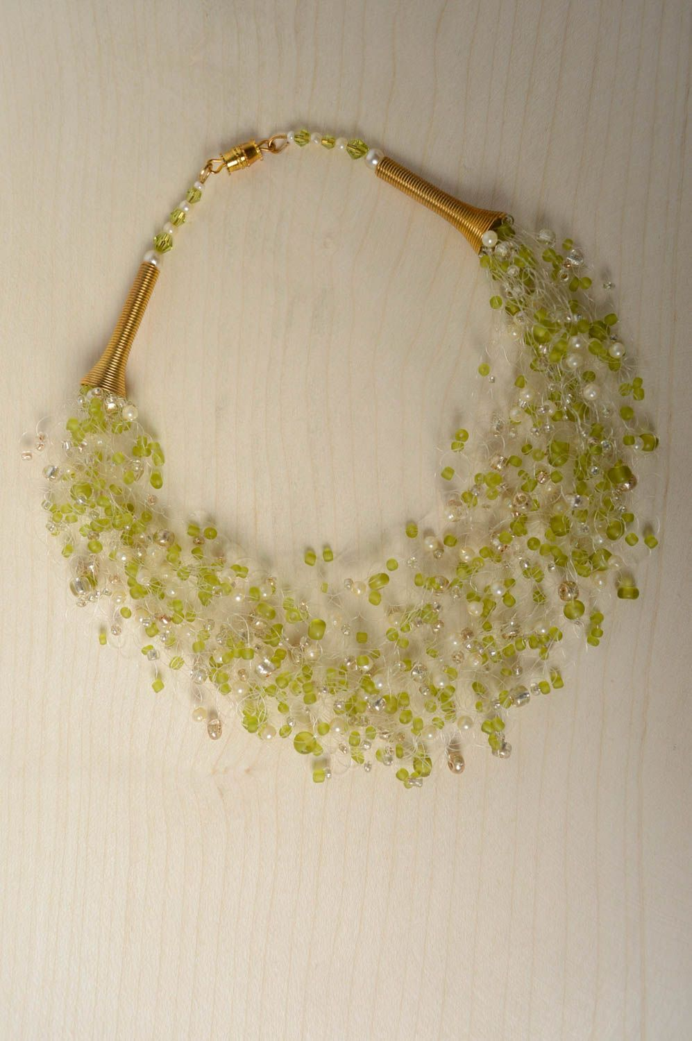 Airy necklace with Czech beads photo 3