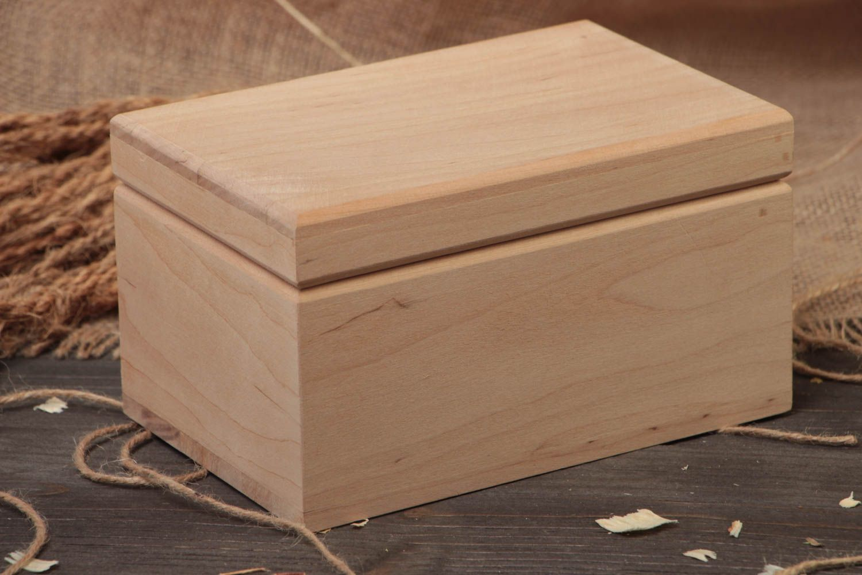 Madeheart caja de madera para decorar pieza en blanco - Como decorar una caja de madera ...