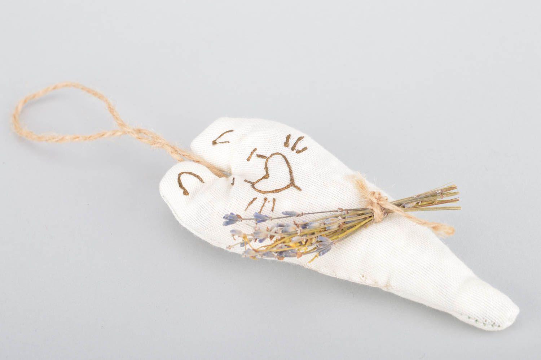 Handmade interior decorative wall hanging sachet pillow with lavender aroma photo 5