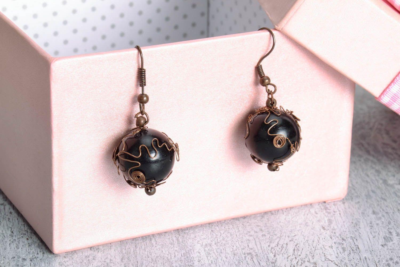 Copper earrings  photo 1
