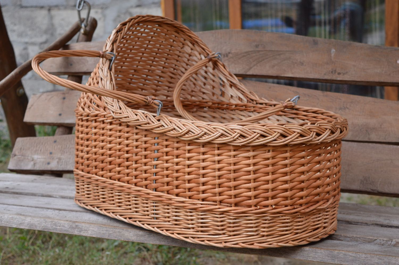 MADEHEART > Cuna de madera para bebé hecha a mano mueble para niños ...