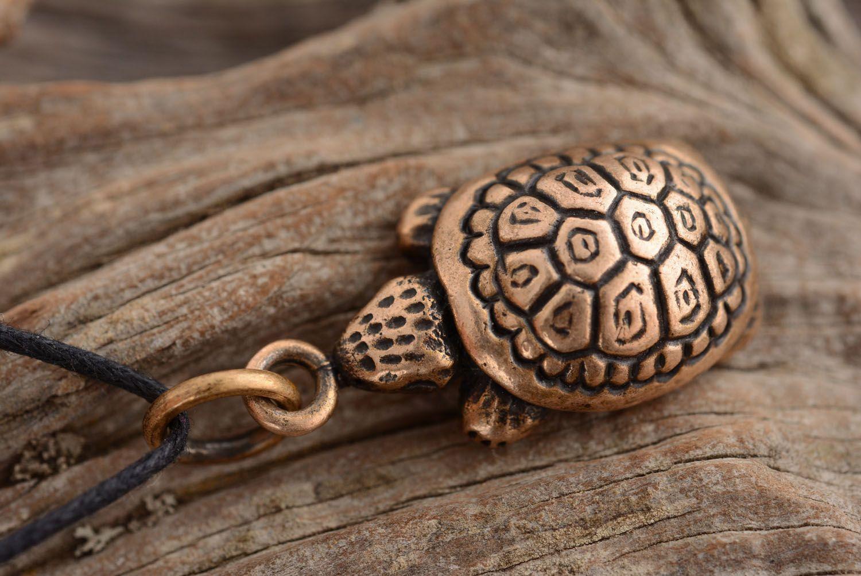 Bronze pendant Turtle photo 3