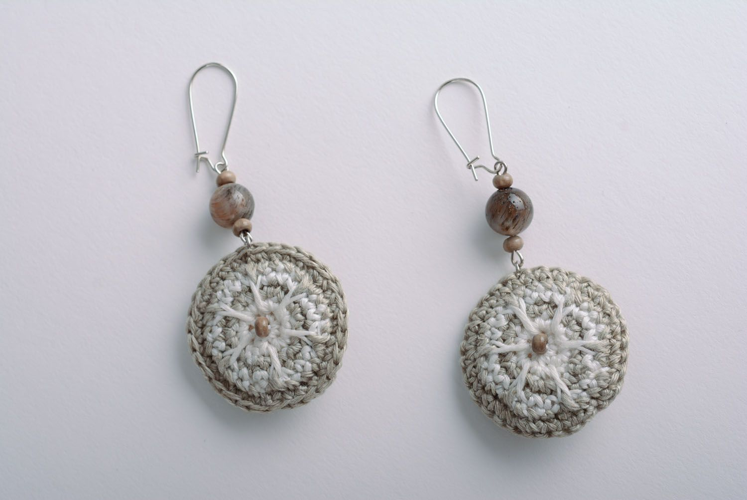 Long earrings with charms photo 1