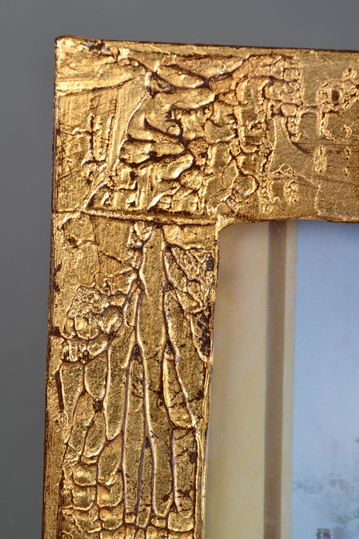 Handmade golden photo frame photo 4