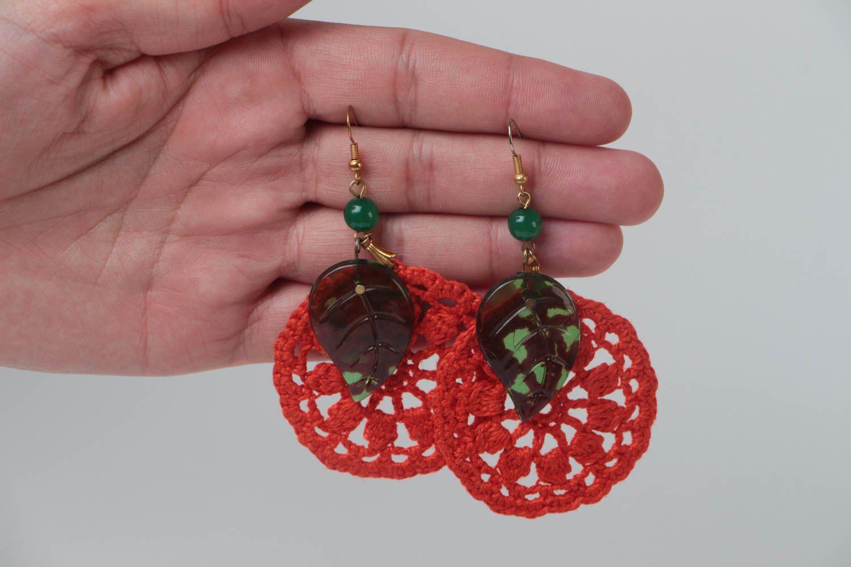 Beautiful handmade jewelry stylish cute accessory designer unusual earrings photo 5
