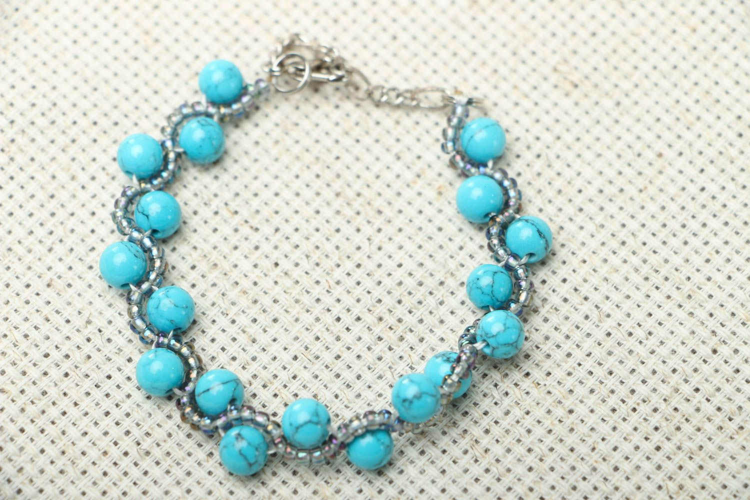 Bracelet with turquoise stone photo 1