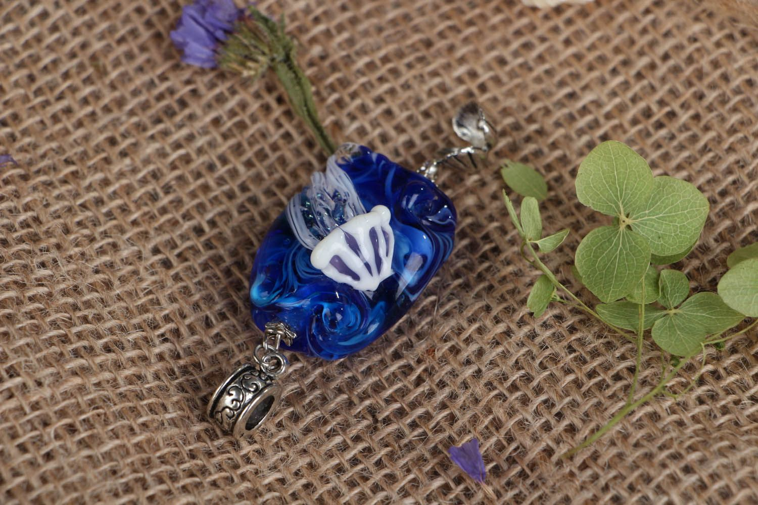 Glass pendant Jellyfish photo 3