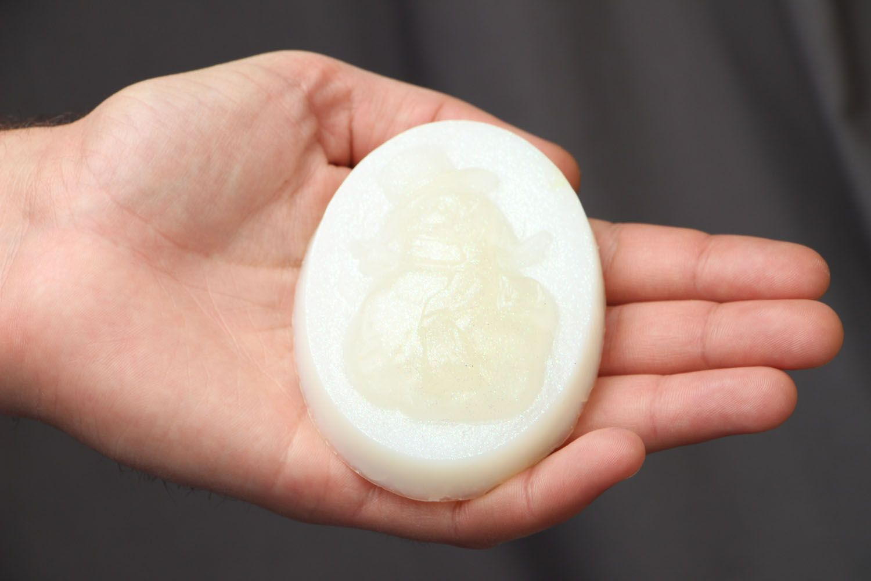Homemade white soap photo 3
