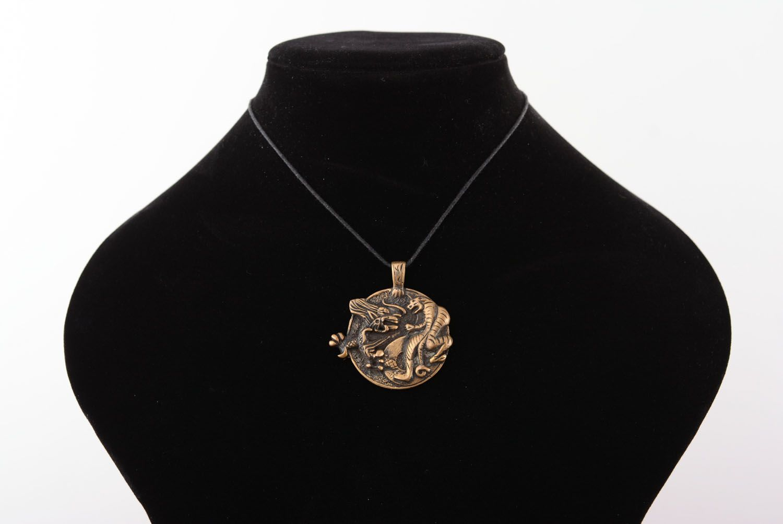 Bronze pendant Yin and Yang Tiger  photo 5