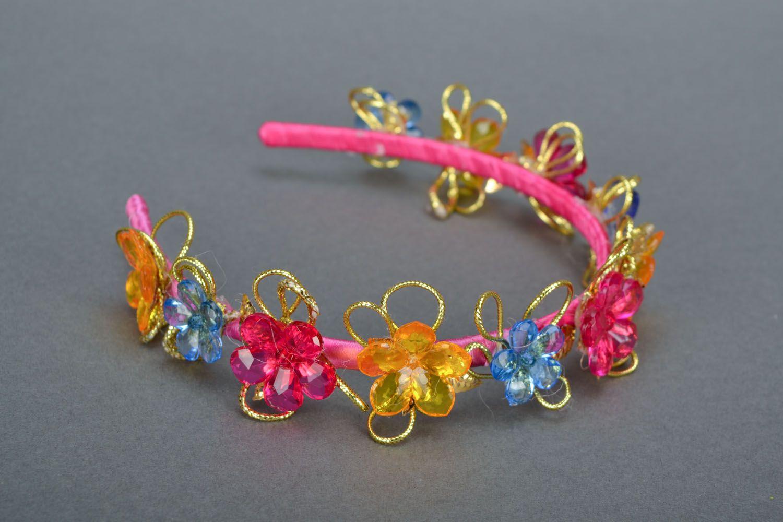 Homemade bright headband Roksolana photo 3