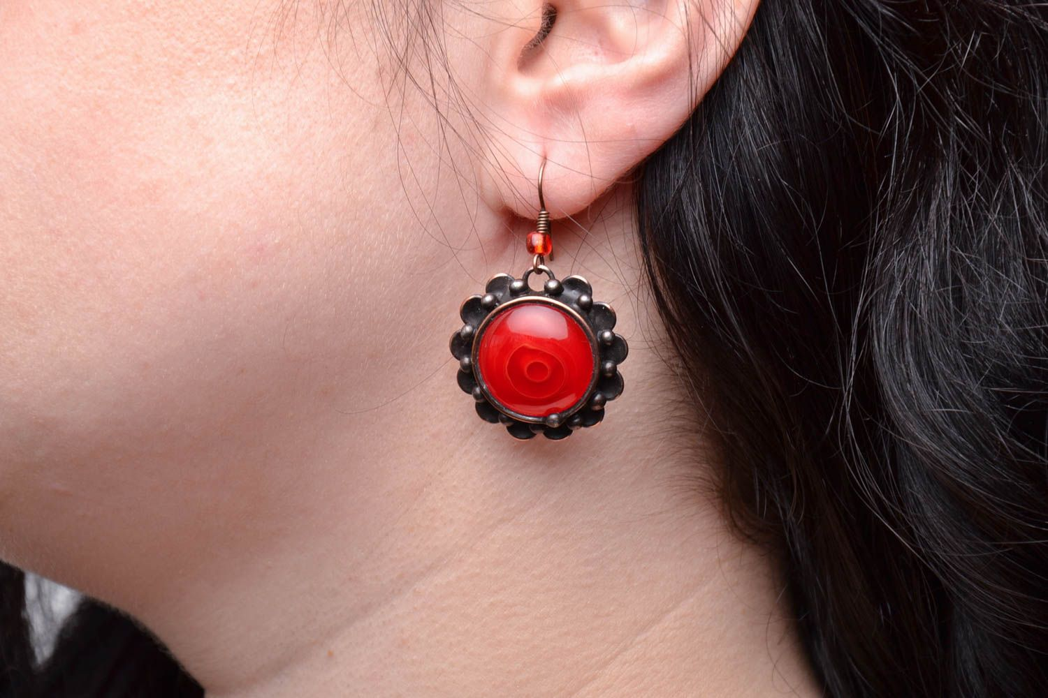 Stained glass earrings photo 5