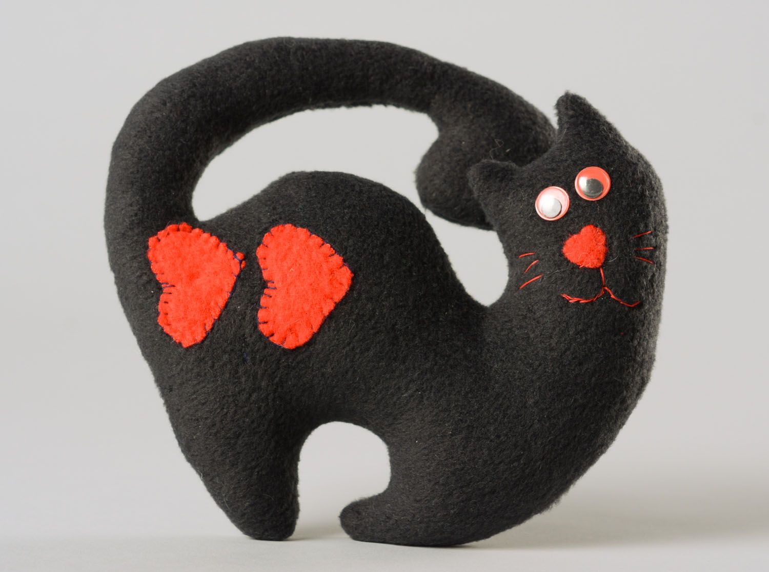 Soft toy for the door handle Black Cat photo 1