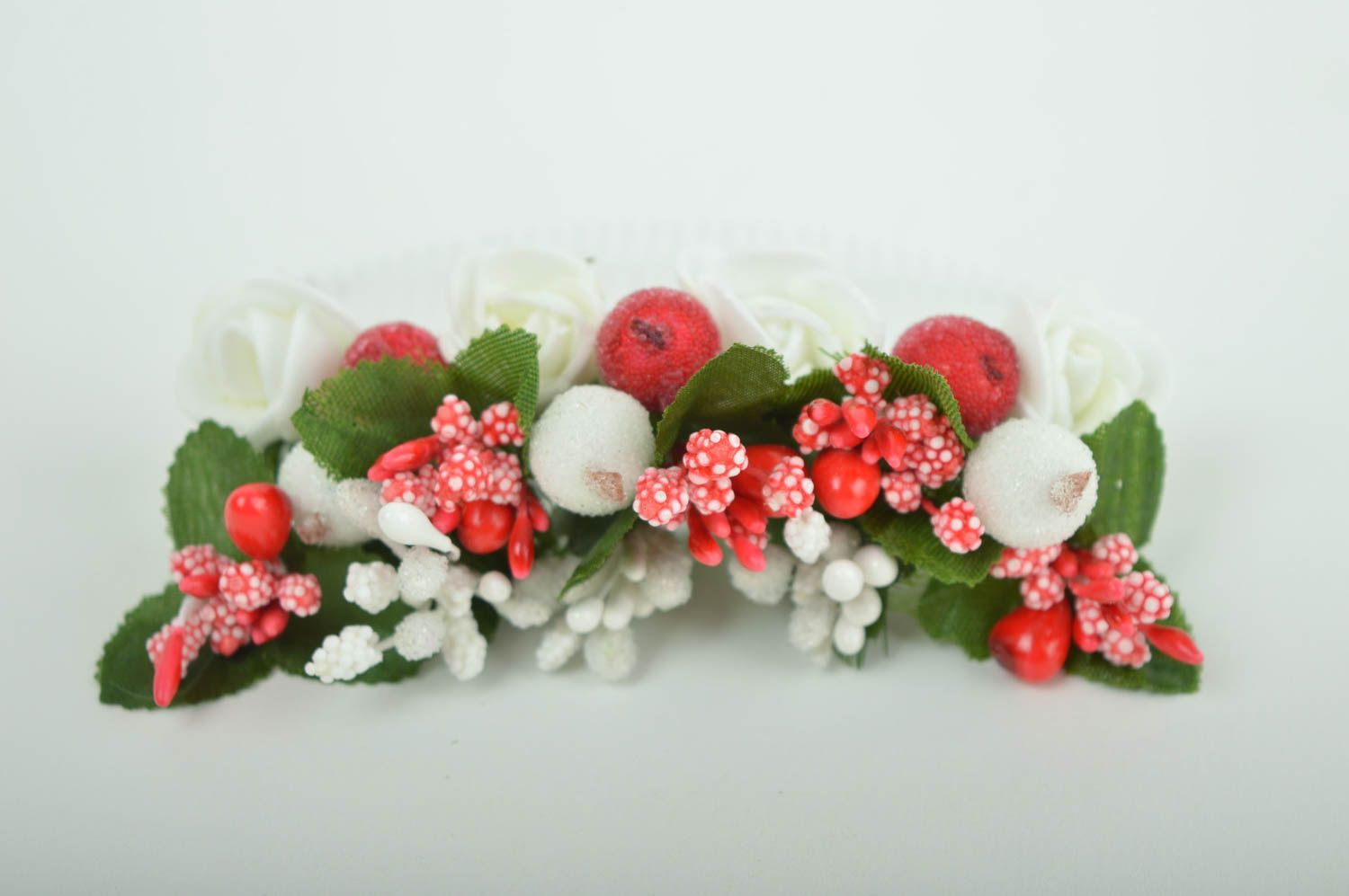 Handmade hair comb flower comb for hair gift ideas designer hair accessory photo 3