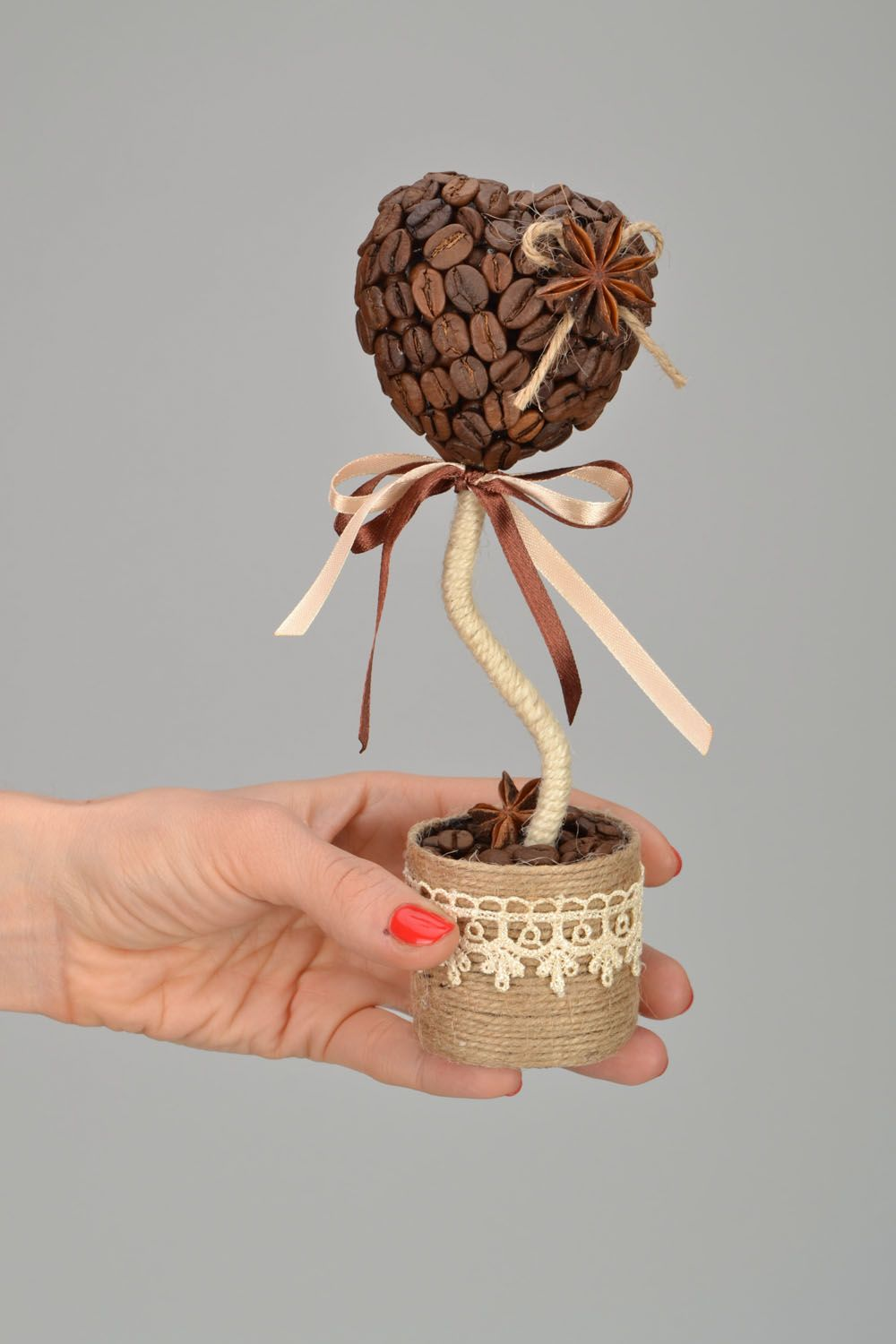 Handmade coffee topiary photo 2