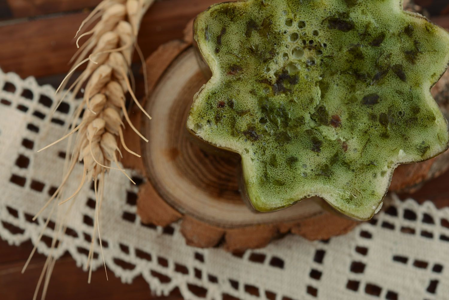 Soap with nettle and wheat gems oil photo 2