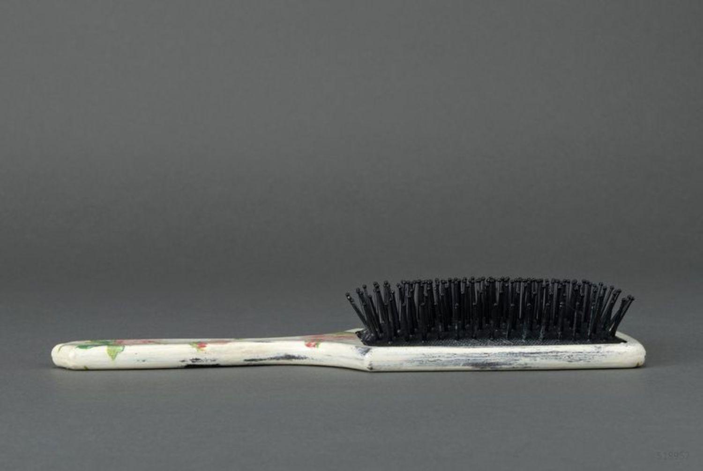 Decoupage hair brush photo 5