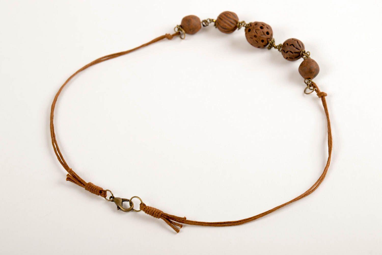 2df59c9c442e joyas étnicas Collar artesanal de cuentas marrones bisutería fina accesorio para  mujer - MADEheart.com