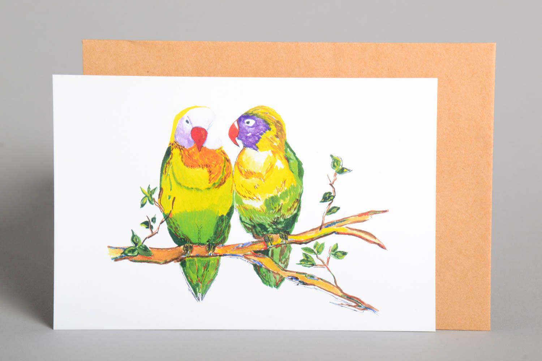 Handmade card unusual greeting card designer card collectible card handmade gift photo 2