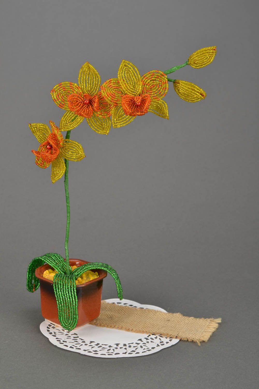Листья из бисера орхидея мастер класс с пошаговым