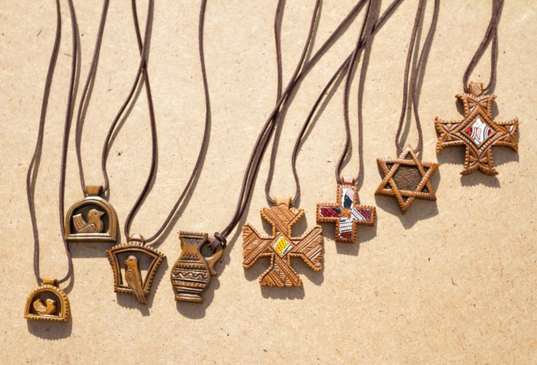 Handmade wooden pendant photo 2