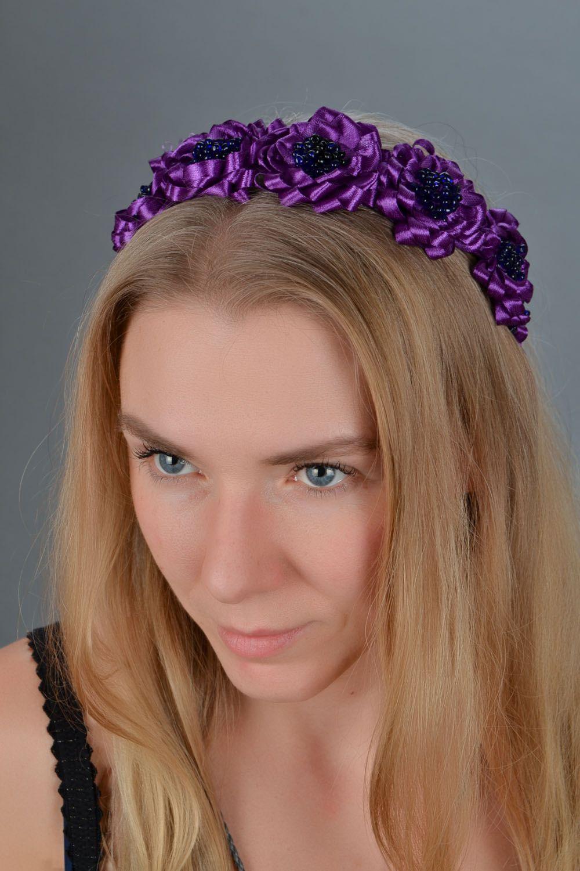 Фиолетовый обруч для волос  фото 1