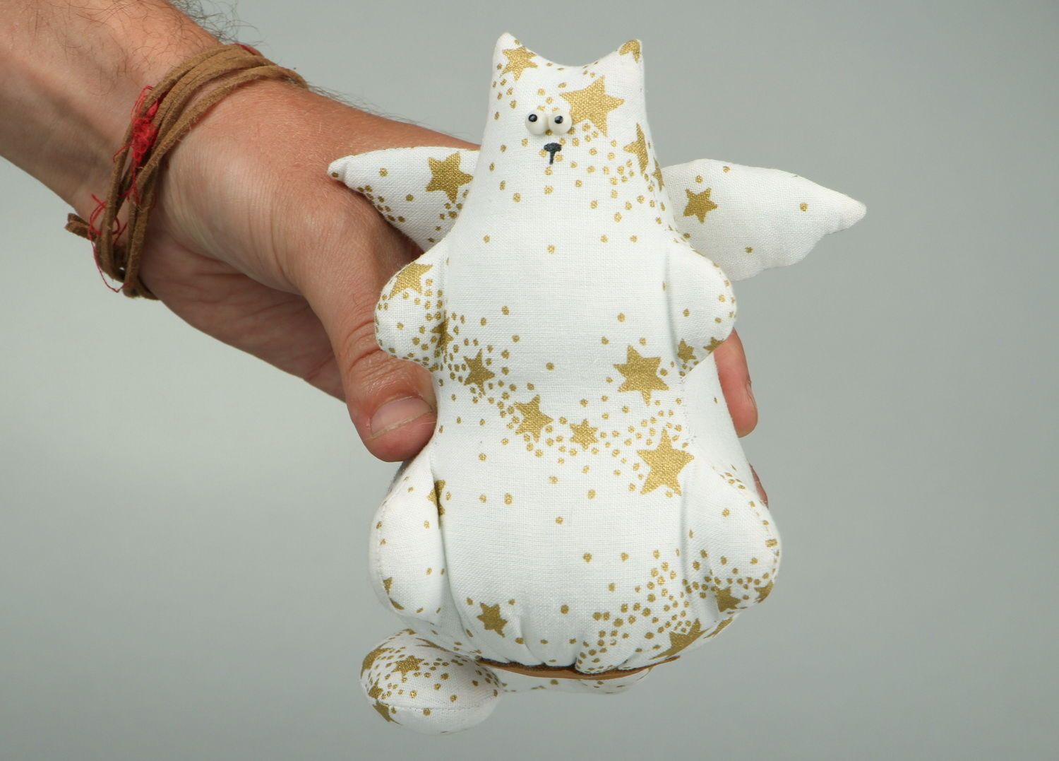 Soft souvenir toy Cat-angel  photo 1