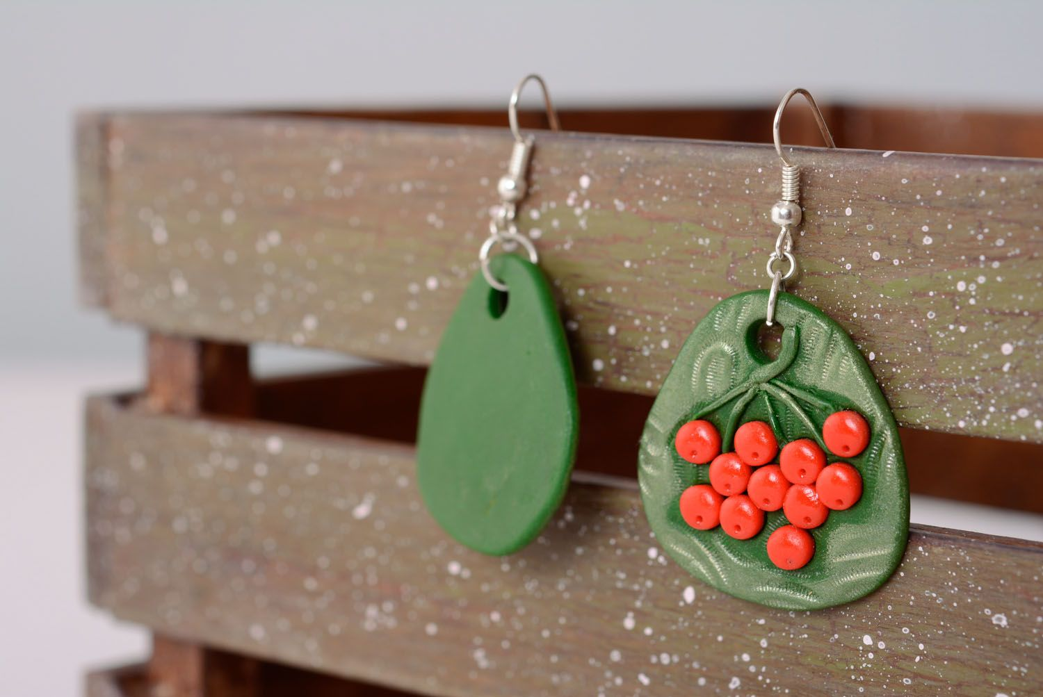 Polymer clay earrings photo 2