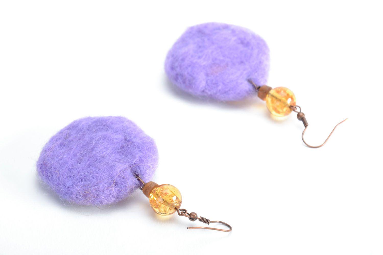 Wool felt earrings photo 3