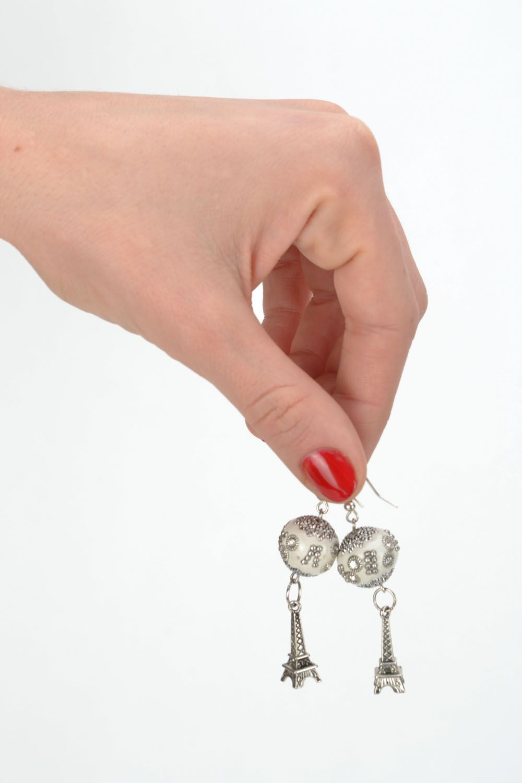Earrings with rhinestones photo 2