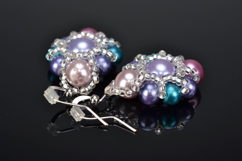 Beaded earrings Violet photo 1