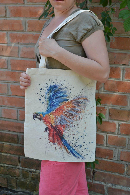 bolsas de mujer Bolso de tela con estampado artesanal vistoso de asas largas regalo original ,