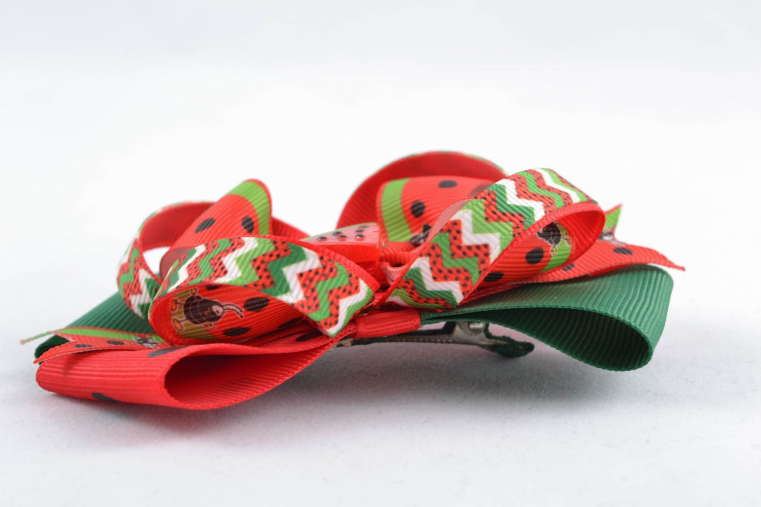 Bow hair clip Water-melon photo 2
