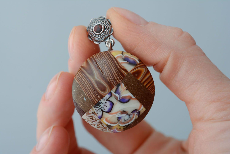 Homemade round earrings photo 3