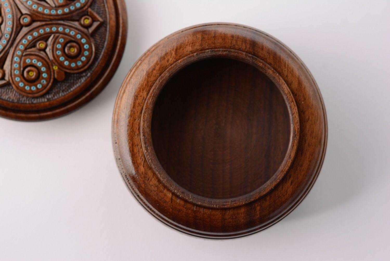 Madeheart handmade runde schatulle aus holz mit for Runde ausziehtische aus holz