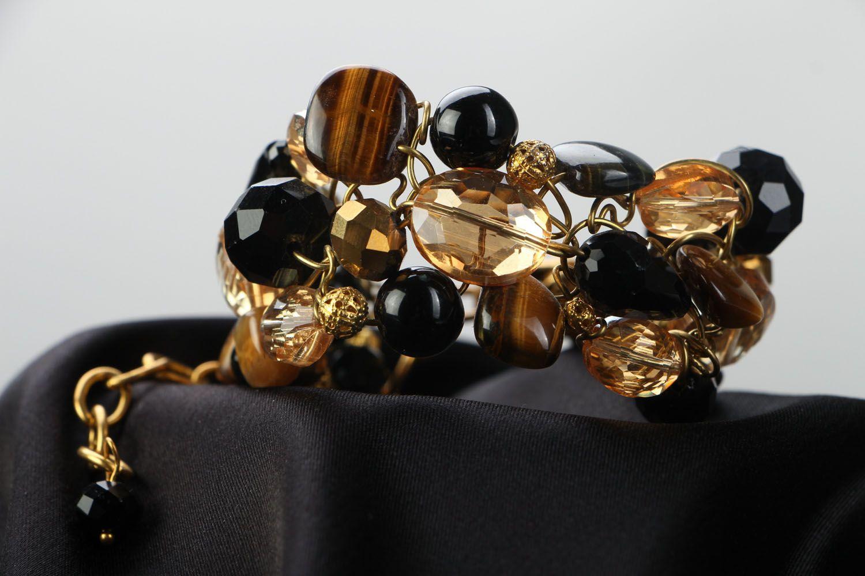 Wrist bracelet with natural stone photo 2