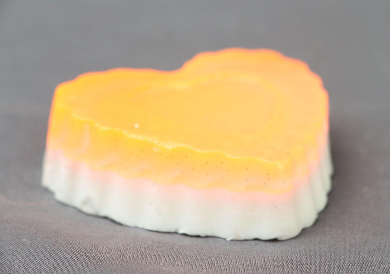 Homemade soap with cinnamon Heart photo 2