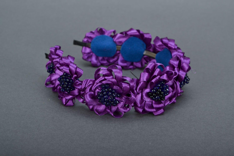 Фиолетовый обруч для волос  фото 3