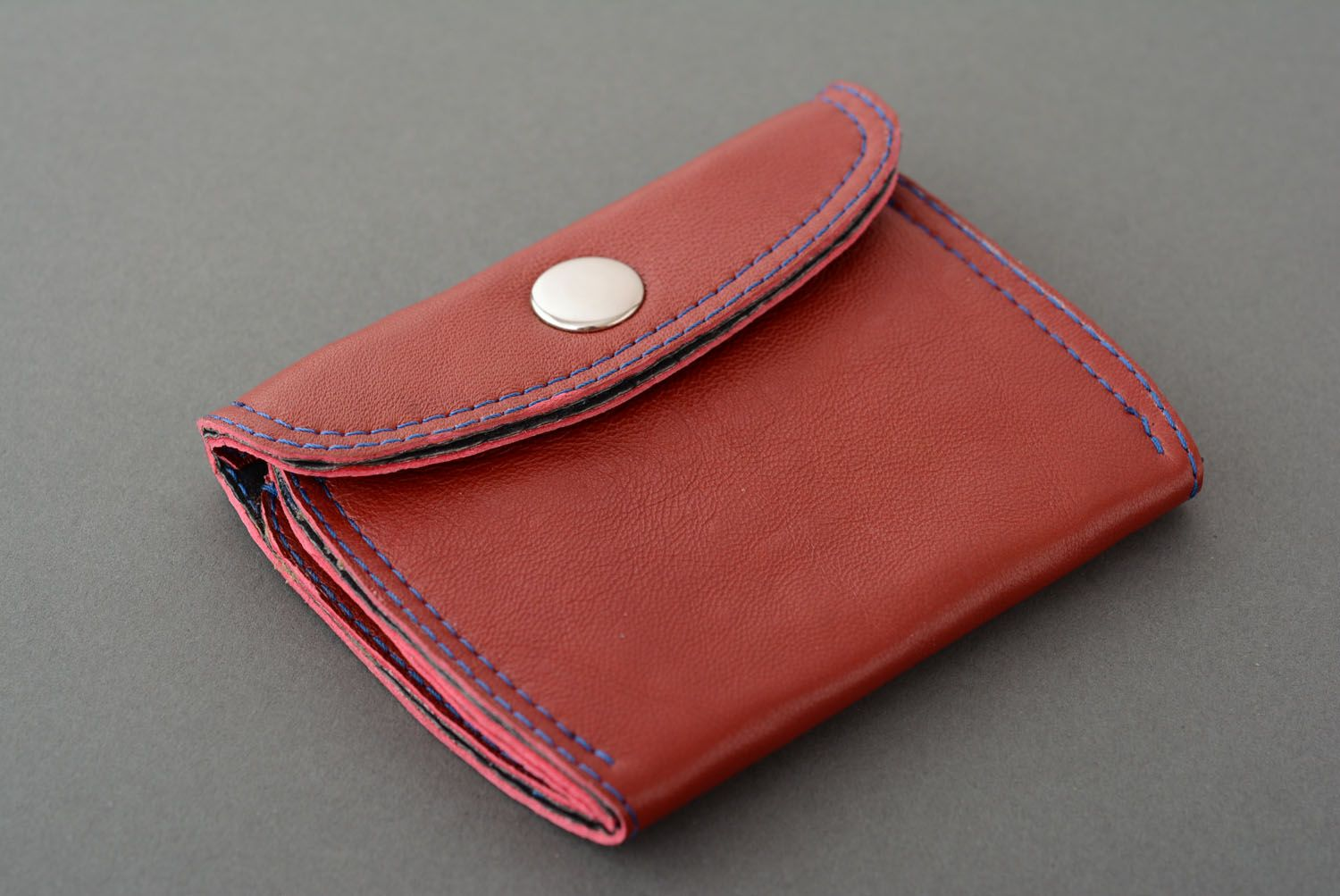 Leather wallet for coins photo 2