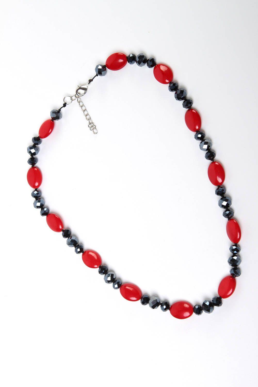 Halskette Frauen handgeschaffen Frauen Accessoire originell Perlen Schmuck foto 2