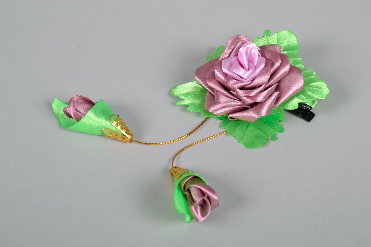 Hair clip Lilac Rose photo 2